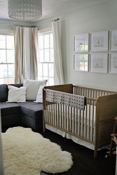 19 Nursery Decorating Ideas That Are NOT Blue + Pink via Brit + Co.