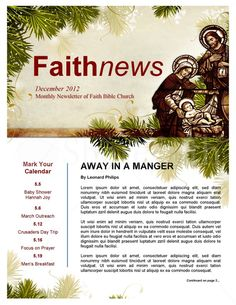 Today We Collected Some Best Church Newsletter Templates For Free