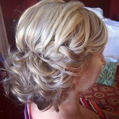 Braid bun bride wedding hair