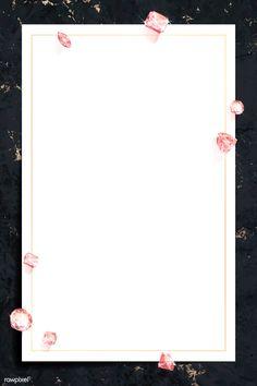 Pink crystal gem design vector   premium image by rawpixel.com / Aew Flower Background Wallpaper, Flower Backgrounds, Pink Wallpaper, Iphone Lockscreen Wallpaper, Copper Frame, Instagram Blog, Note Paper, Flower Frame, Aesthetic Wallpapers