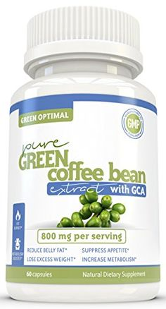 Pure Green Coffee Bean Extract by Green Optimal - Gain Energy and Lose Weight - Diet pills (maximum GCA content standardised to 50%) to help you shed pounds quickly without jittery side effects. ** Click image to review more details.