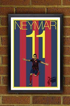 Neymar 11 FC Barcelona ilustraciones póster de por Graphics17, $19.99
