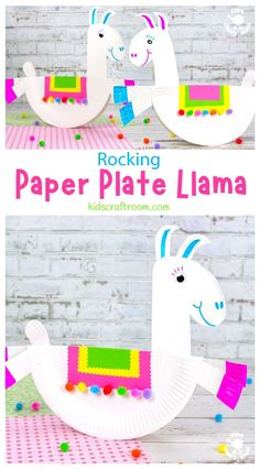 This Rocking Paper Plate Llama Craft is just so adorable! Give them a tap and watch them wobble from side to side! A super fun paper plate craft for llama fans. #kidscraftroom #kidscrafts #llamas #llamacrafts #paperplatecrafts #summercrafts #preschoolcrafts Paper Plate Crafts, Paper Crafts For Kids, Easy Crafts For Kids, Summer Crafts, Art For Kids, Craft Kids, Kid Crafts, Rainy Day Activities For Kids, Craft Activities