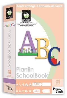 Plantin School Book http://www.cricut.com/res/handbooks/PlantinSchoolbook_cw.pdf