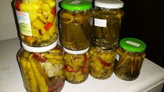 Hungarian Recipes, Hungarian Food, Ketchup, Pickles, Cucumber, Mason Jars, Stuffed Peppers, Vegetables, Cilantro