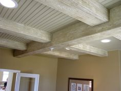 Faux Wood Beams Design Ideas and Photos | Fake Wood Beams.... I would love to put faux wood beams in my tv/kitchen/dinning room.