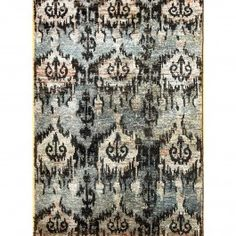 Handknotted Ikat Rug 5 X 8