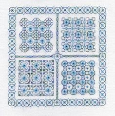 blackwork | Two-Handed Stitcher: Blackwork Mystery, part 3