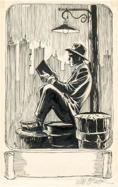 Le Neuvième Art, Le Spirit fait une pause,Will Eisner. Pencil Art Drawings, Art Drawings Sketches, Cool Drawings, Comic Books Art, Comic Art, Will Eisner, Illustrations, Illustration Art, Drawn Art