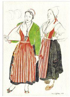 Folk Costume, Costumes, Nordic Design, Unique Outfits, White Fabrics, Folklore, Love Art, Sweden, Scandinavian