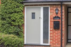 Solarlux SL Bi-Folding Doors, Sliding Sash Windows and Apeer Front Door, Warfield, Berkshire - Thames Valley Windows Front Door Porch, Front Door Decor, House Front, Contemporary Front Doors, Modern Front Door, Balcony Doors, Composite Door, External Doors, Brick Design