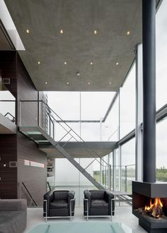 want a fireplace like that one! Hans van Heeswijk Architects, IJburg, Netherlands