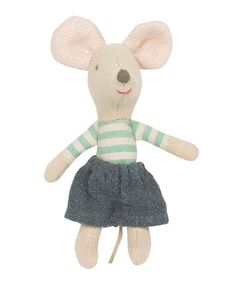 Maileg Little Brother Stripy Mouse in Matchbox