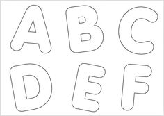 Molde de Letras - A, B, C, D, E, F