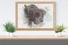 Cross Stitch Pattern: Labrador watercolour dog puppy fur baby Stitchy Wonders - embroidery art chart download PDF Hand Embroidery Patterns, Embroidery Art, Cross Stitch Fabric, Cross Stitch Patterns, Pattern Making, Fur Babies, Watercolour, Dogs And Puppies, Labrador