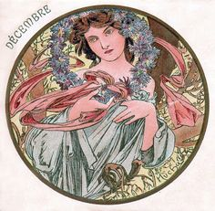 Tumblr  Alphonse Mucha - December