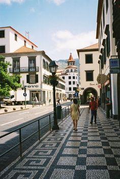 Funchal, Island of Madeira, Portugal by Gareth Robinson. Love the tiled walkway.