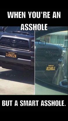 Oh my gosh I so want that as a liencnce plate - Sprüche - Voiture Truck Memes, Car Jokes, Funny Car Memes, Crazy Funny Memes, Really Funny Memes, Stupid Funny Memes, Funny Laugh, Wtf Funny, Funny Relatable Memes