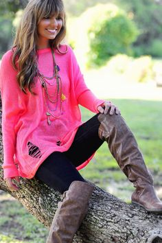 Cute outfit for winter or fall love this necklace