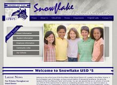 Snowflake Unified School District #5. Would you love for your child's school to have a beautiful, functional website? #school