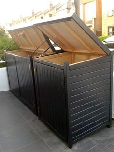 Standard Gallery from The Bike Shed Company Garbage Can Shed, Garbage Can Storage, Trash Can Storage Outdoor, Outdoor Trash Cans, Recycling Storage, Storage Bins, Bin Storage Ideas Wheelie, Bin Store Garden, Hide Trash Cans