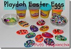 playdough easter eggs