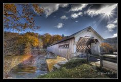 Near Brattleboro (Vermont, USA) there's a beautiful bridge, surrounded by fall foliage, which is mostly gone.