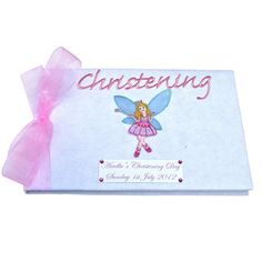 Personalised Pretty Fairy Christening Guest Book £24.95