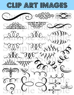 34 Flourish Wedding Clipart
