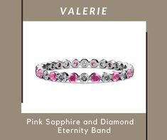 All About Eyes, Sparklers, Eternity Bands, Pink Sapphire, Wedding Bands, Fine Jewelry, White Gold, Gemstones, Rings
