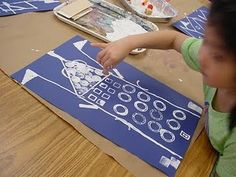 kinder architecture print-making!