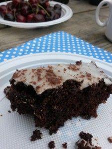 Virkeligt svampet chokoladekage
