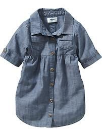 Chambray Shirt Dress for Baby