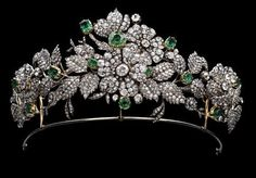 Mellerio Floral tiara of the Leuchtenberg family, descendants of Eugéne de Beauharnais, son of the Empress Joséphine