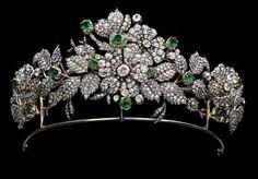 Mellerio Floral tiara of the Leuchtenberg family, descendants of Eugéne de Beauharnais, son of the Empress Joséphine