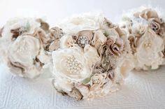 Stoff-Bouquet Blumengesteck Hochzeit Seide Stoff von Cultivar