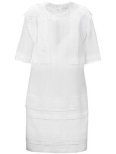 GIVENCHY Broderie Anglaise Trim Dress. #givenchy #cloth #dress