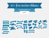 Free Vector Ribbons by wassim wassim, via Behance