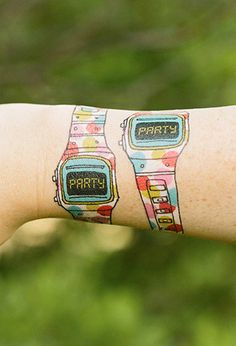 Tattly Party Watch Temporary Tattoos | FOREVER21 - 1000078190