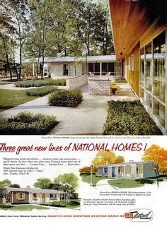 National Homes Ad - Life 1957 by MidCentArc, via Flickr