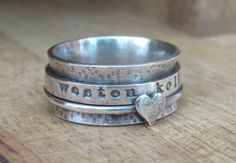 Rustic Sterling Silver Spinner Ring