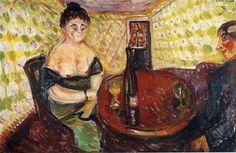 Brothel Scene. Zum sussen Madel - Edvard Munch