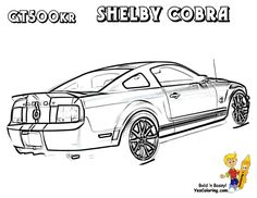 Fierce Car Coloring | Mustang gt 350, Cars coloring pages, Mustang | 182x236