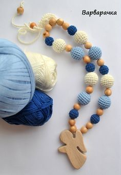 Angel / Teething necklace / Breastfeeding by ForYourHappyBaby
