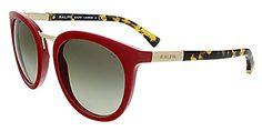 Polo Ralph Lauren Women's 0RA5207 Round Sunglasses, Red & Tokyo Tortoise, 52 mm - http://todays-shopping.xyz/2016/06/09/polo-ralph-lauren-womens-0ra5207-round-sunglasses-red-tokyo-tortoise-52-mm/