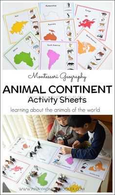 Animal continent activity sheets