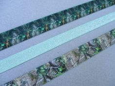 Green Hunting Camo and Glitter Stretchy Elastic Headbands Mossy Oak Realtree by Ink and Roses 13