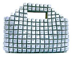 Geeky Computer Keyboards Fashion Bags are a great combination of Computer Keyboard Keys and Fashionable Hand Bags. They mix the Tech and Fashion world in a neat but questionable concept. Computer Gadgets, Computer Humor, Computer Keyboard, Keyboard Keys, Computer Technology, Recycled Art, Recycled Materials, Repurposed, Fashion Mode