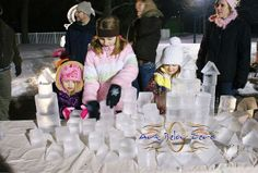 kids ice scupting | Kids Building Blocks Station ice sculpture | Flickr - Photo Sharing!