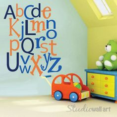 Collins room Reusable Alphabet Wall Decal  LARGE SET   by StudioWallArt on Etsy, $90.00